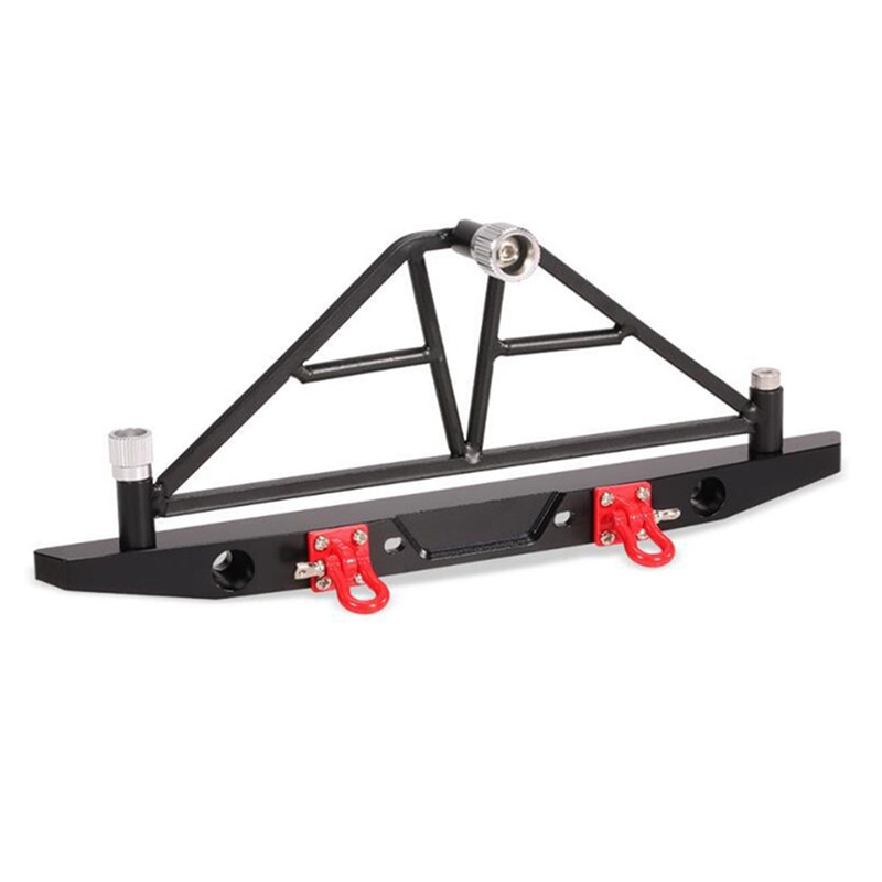 Aluminum Rear Bumper With LED Light For Axial SCX10 Crawler 4WD Truck RC 1/10