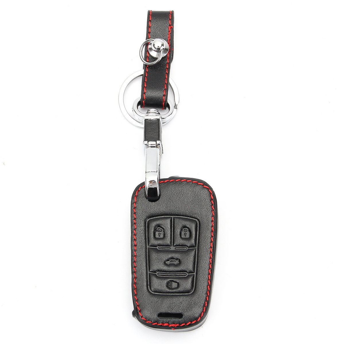 4 Buttons Car Remote Fold Key Fob Chain Cover Holder for Chevrolet