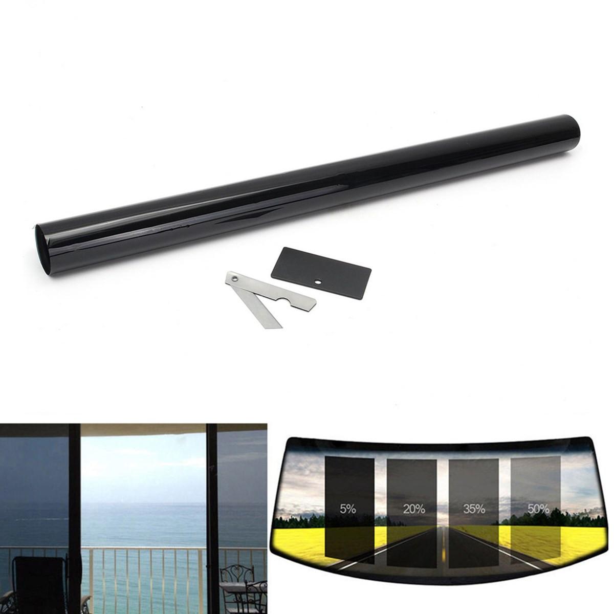 2ply 20 vlt black glass window film vinyl roll 3m long for Long windows for sale