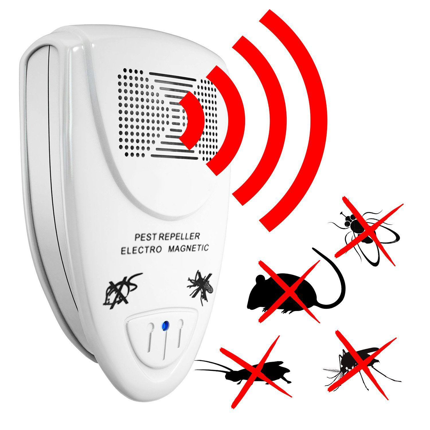 Loskii LP-04 Ultrasonic Pest Repeller Electronic Pests Control Mouse Mosquitoes Roaches Killer SKU907249