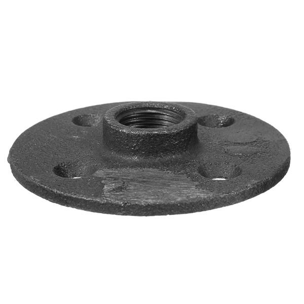Inch black threaded malleable iron floor flange steel