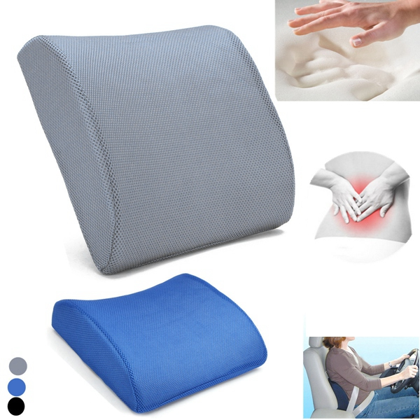 Buy Memory Foam Back Lumbar Support Cushion Travel Cart Office Seat Pillow Fatigue Relief