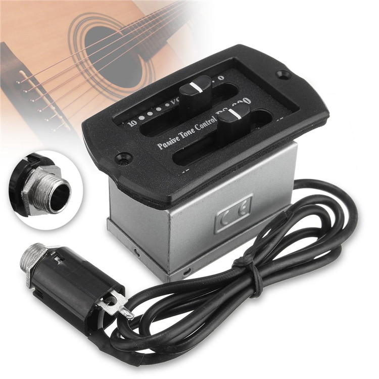2-Band EQ Guitar Equalizer Acoustic Guitar PS900 Tuner