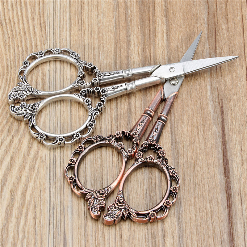 Vintage Flower Pattern Cross Stitch Embroidery Scissors