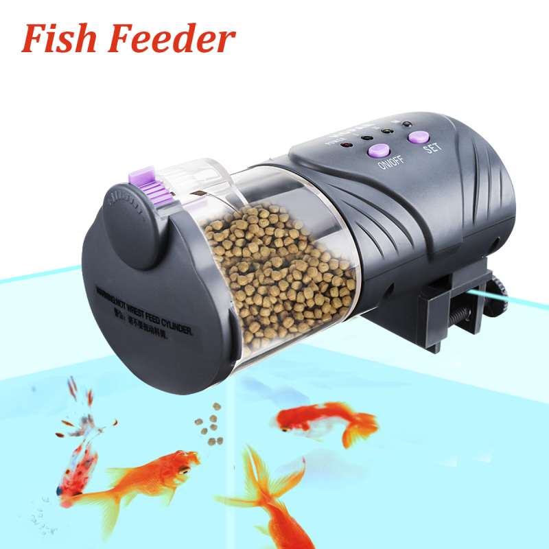 Automatic fish feeder tank aquarium intelligent timing koi for Koi fish feeder
