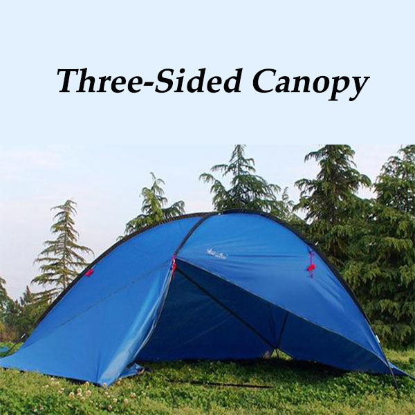 Outdoor Large Three Sided Tent Sunshade Canopy Awning