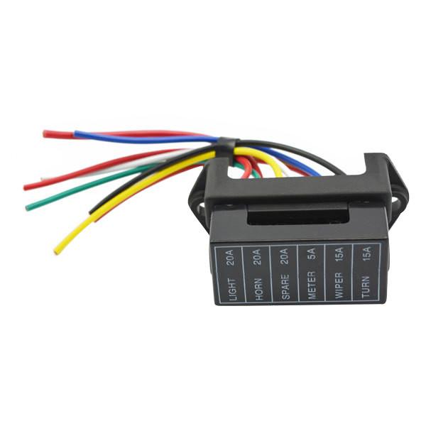 JZ5702 Jiazhan Car 6 Way Fuse Box 6 Road With Wire Modification Basic Block  Auto Fuse Holder | Alexnld.comAlexnld.com