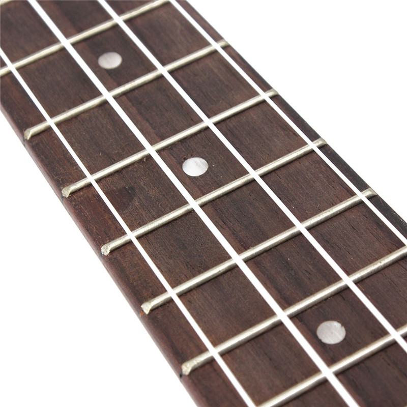 21 Inch Soprano Ukulele Uke Sapele 15 Frets Musical Instrument Flower - Photo: 7