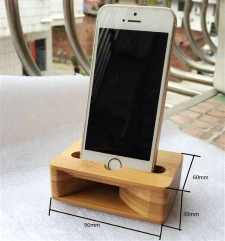 Wooden Phone Stand ~ Universal wooden phone stand amplifier mobile bracket lazy