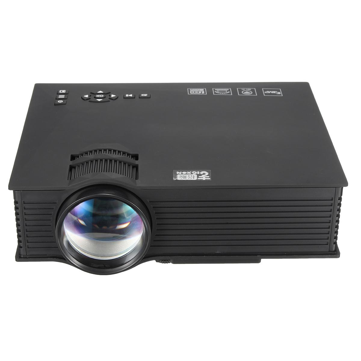 Projectors gigxon g46 mini portable full hd 1080p 1200 for Mini wifi projector