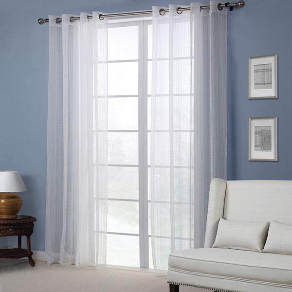 Decorazioni per la casa bianca pura camera da letto tenda salotto schermo della finestra balcone - La finestra della camera da letto ...