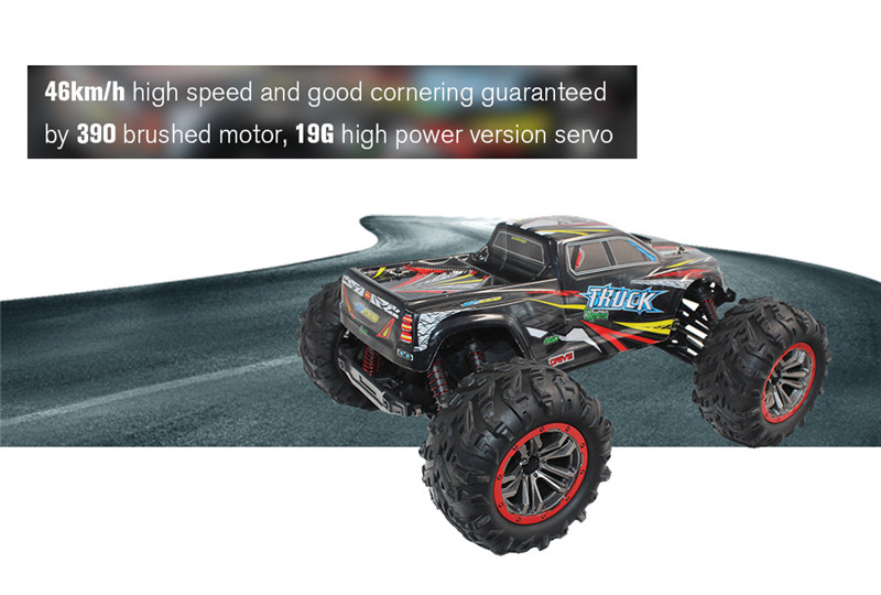 XinleHong 9125 1/10 2.4G 4WD 46km/h High Speed RC Racing Car Short course Truck Waterproof Toys
