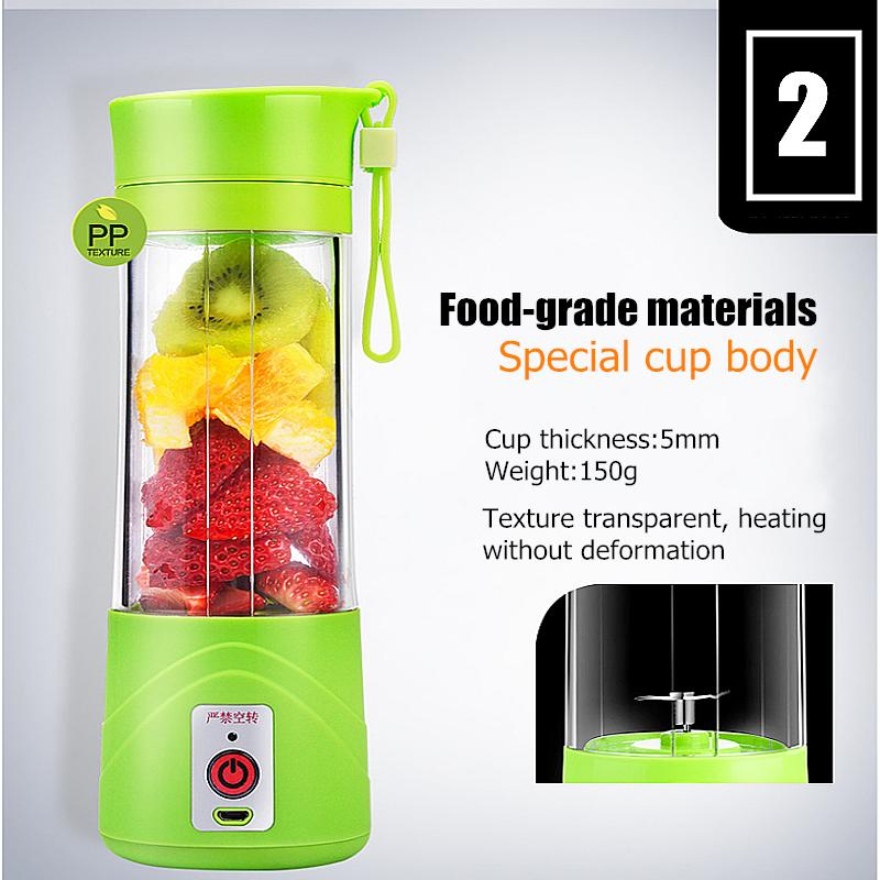 1 X Small Portable Electric Juice Cup 1 X Charging Cable