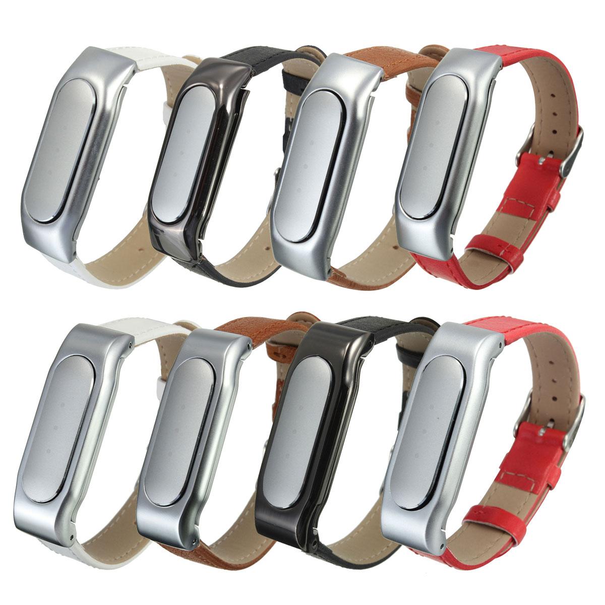 PU Leather Replacement Wristband Wrist Strap Bracelet For Xiaomi Mi Band 1S