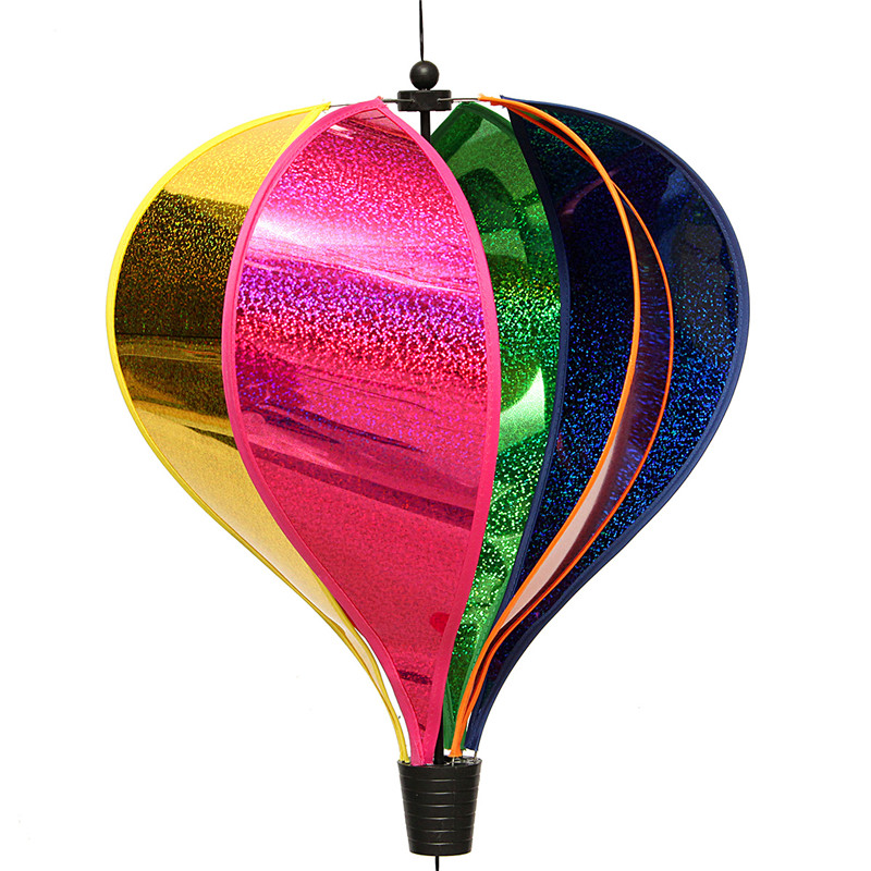 Rainbow Windsock Striped Hot Air Balloon Wind Spinner Twist Lawn Garden Camp Outdoor Decor - Photo: 4