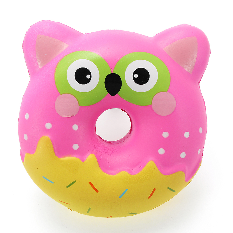 Squishy Owl : Squishy Factory Owl Donut 10cm Soft Slow Rising With Packaging Collection Gift Decor Toy Alex NLD