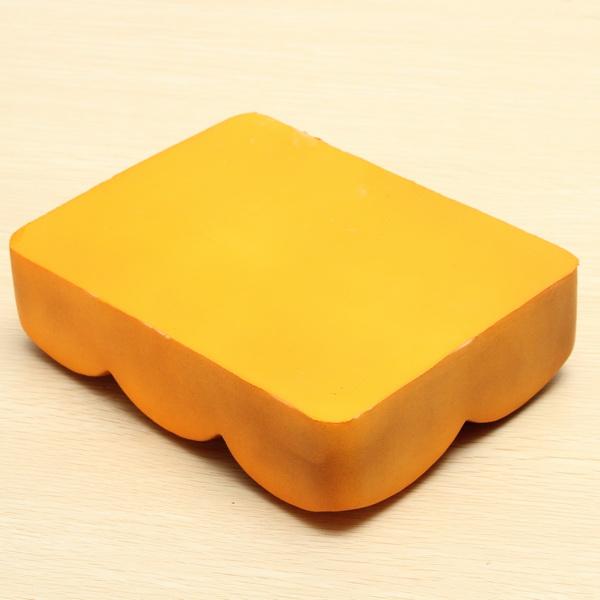 Erics Squisy Super Slow Rising Abdominal Muscle Bread Orange Color With Original