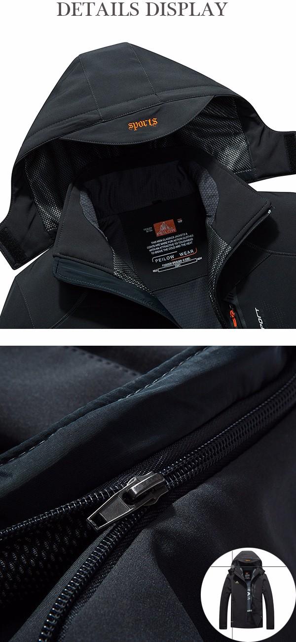 Mens Outdooors Soft Shell Windproof Waterproof Jacket Hooded ...