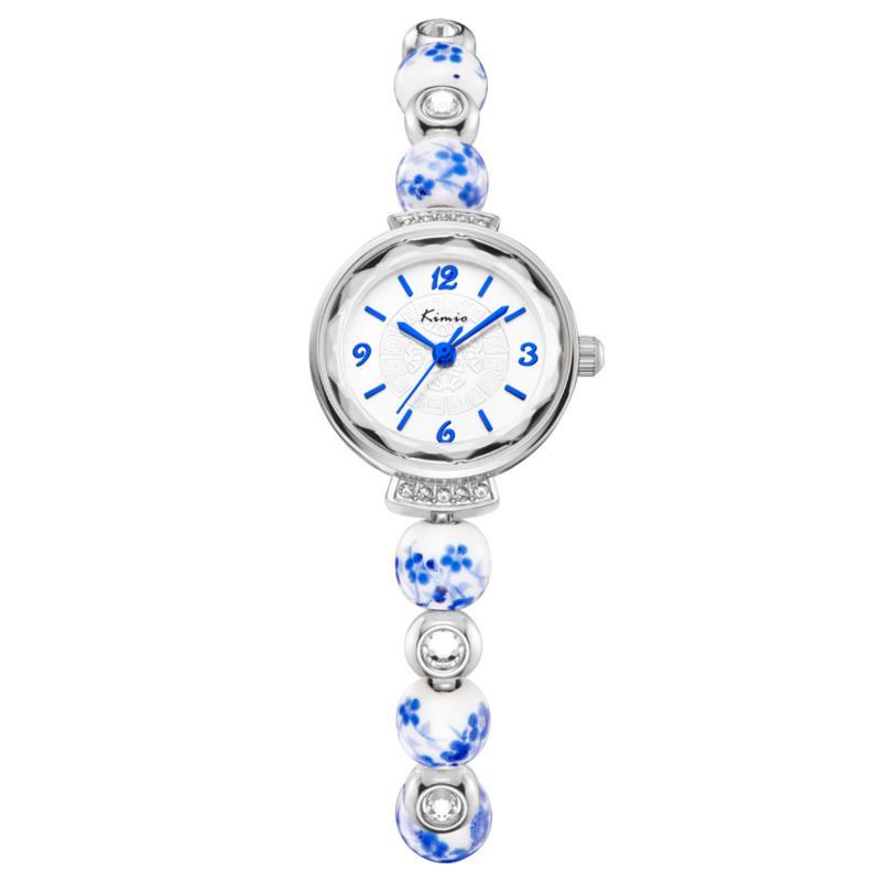 KIMIO KWS Moda Mujer Reloj De Cuarzo Elegante Correa De Porcelana Damas