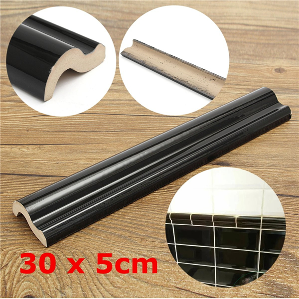30x5cm Black Dado Border Tile Moulding Decoration Wall Side (Eachine1) Washington Buy Ad