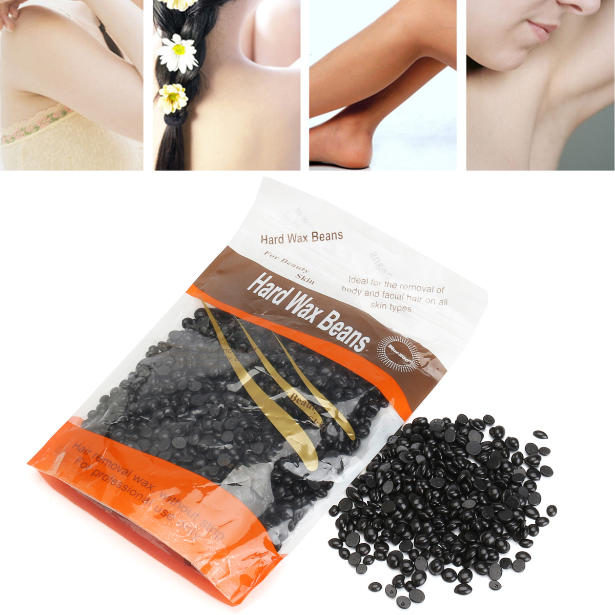 Depilatory Hot Film Black Bikini Hard Wax Beans Hair Removal No Strip