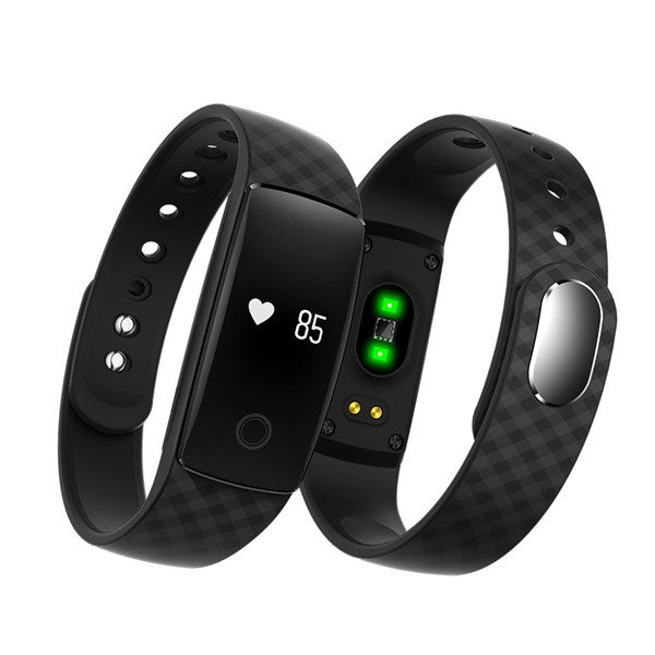 CAVO V05 Sport Watch Plaid Pattern Strap Waterproof Smart Bracelet Wristband For Android IOS
