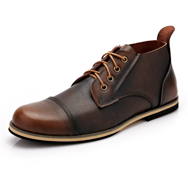Big Size Men Formal Business Boots Lace Up Pointed Toe ...