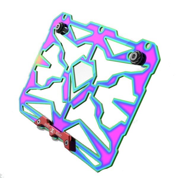 Motorcycle License Plate Frame Colorful Rear CNC Holder Stainless Steel Universal Honda/Suzuki 6mm