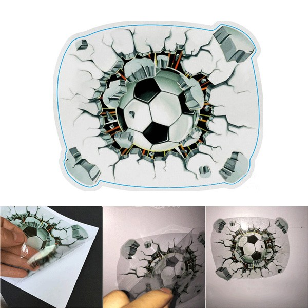 3D Football Car Sticker Stereoscopic Simulated Adhesive Waterproof Decal 15X18CM