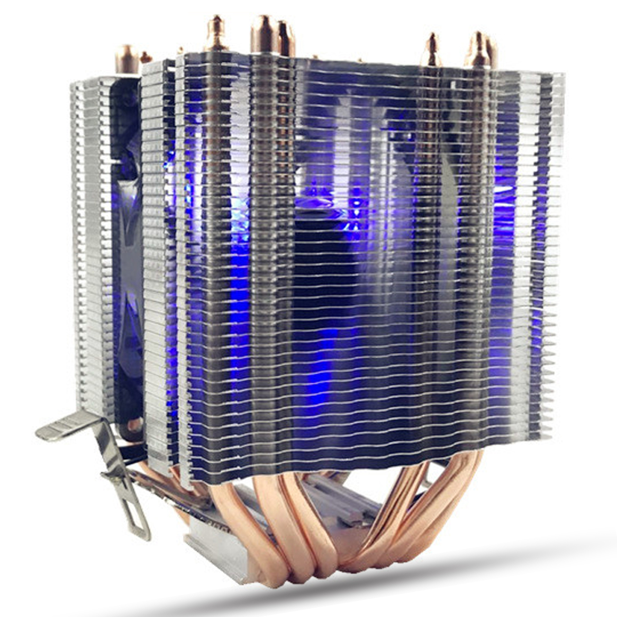 6 Heat Pipes Blue LED CPU Cooling Fan Cooler Heat Sink