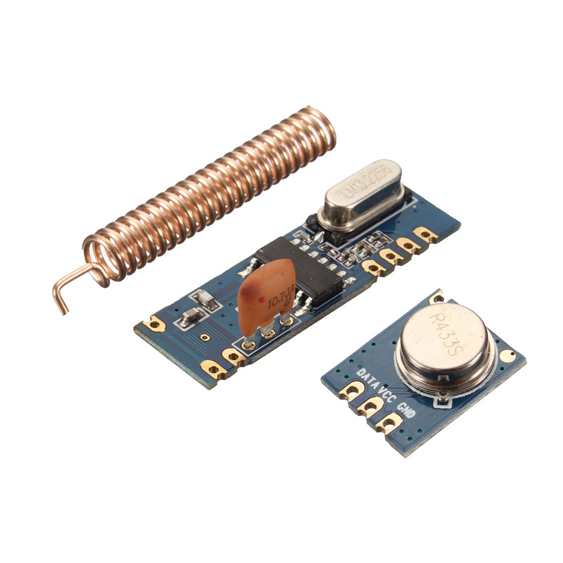 Buy 433MHz 100 Meters Wireless Module Kit ASK Transmitter STX882 + Receiver SRX882 Copper Spring Antenna