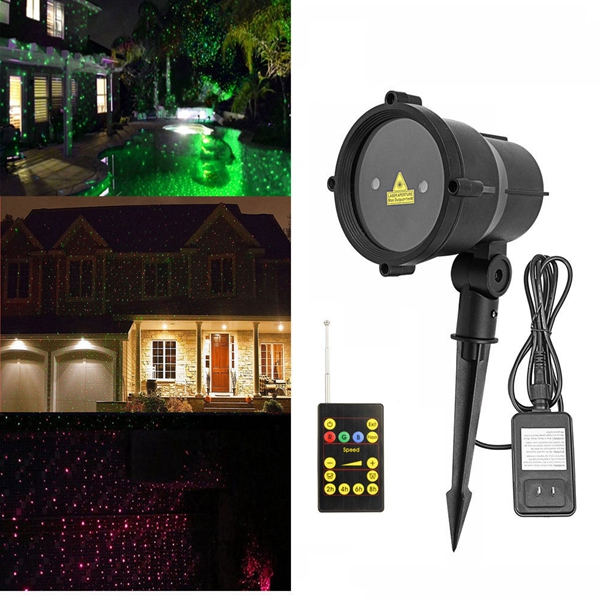 Buy Waterproof R&G Laser Remote LED Outdoor Projector Landscape Light for Garden Home Party Decor