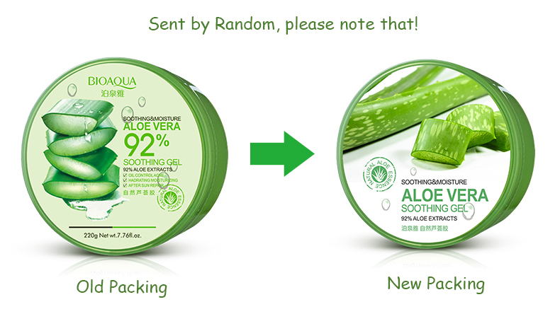BIOAOUA Natural Aloe Vera Soothing Gel for Face | Hydrating and Moisturizing