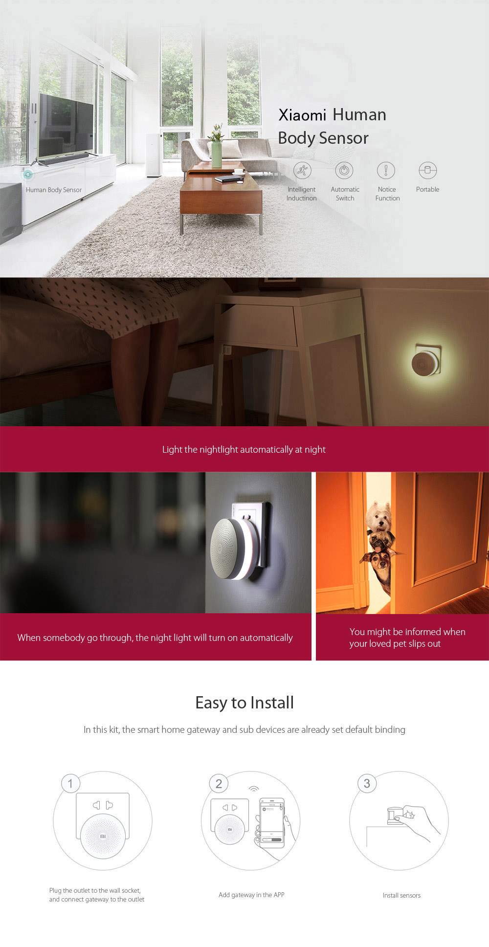 xiaomi mijia 5 in 1 smart home sicherheitsset gateway wifi. Black Bedroom Furniture Sets. Home Design Ideas