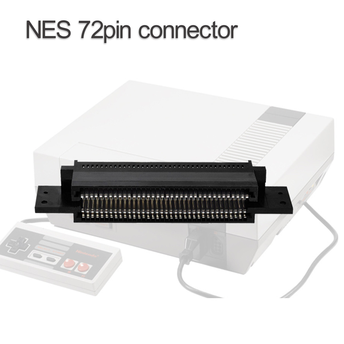 72 Pin Game Cartridge Slot Connector Replacement for Nintendo NES