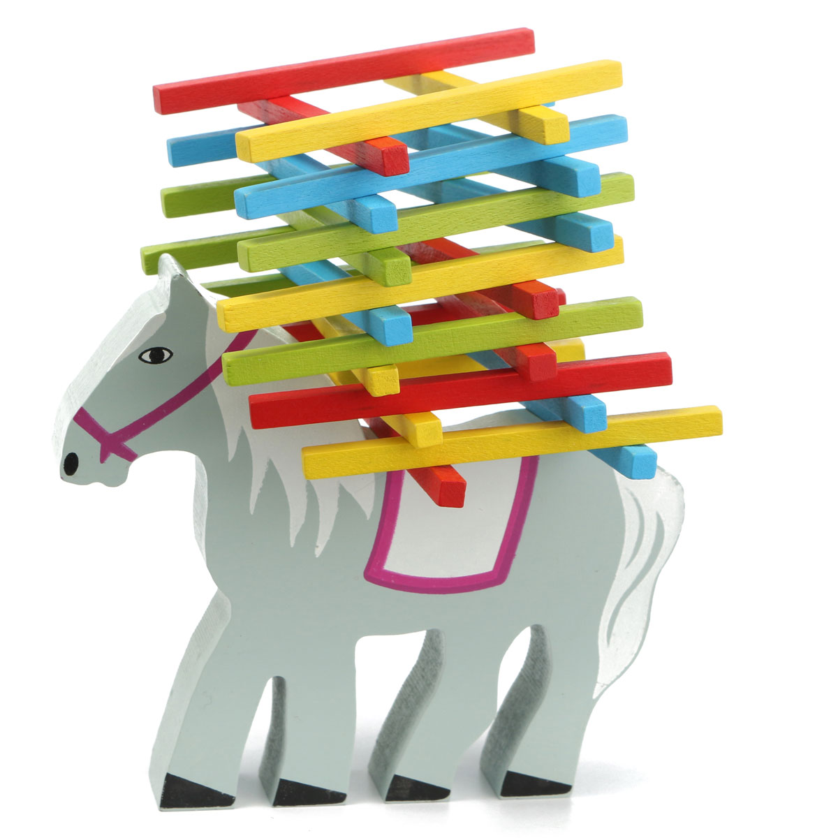 Wooden Educational Horse Balance Beam Game
