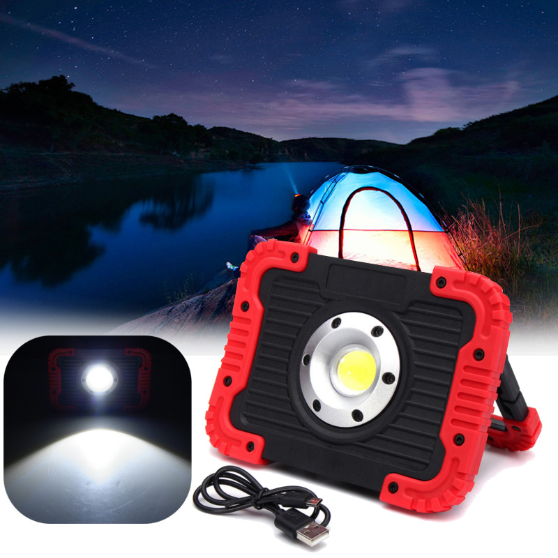 30W 750lm 20LED COB Work Light USB Rechargeable Camping