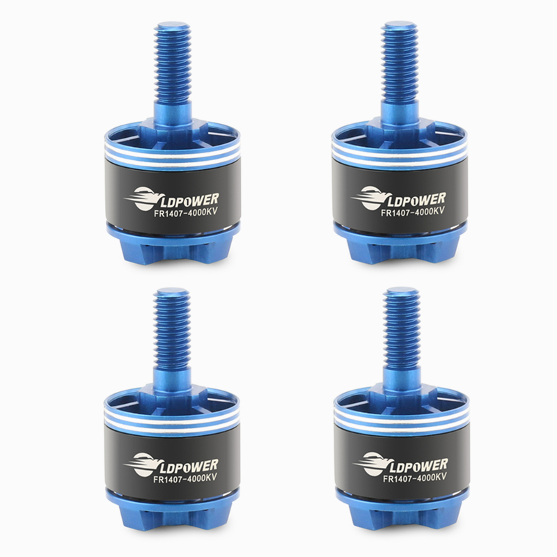 4X LDPOWER FR1407 1407 4000KV 2-4S Brushless Motor 13.8