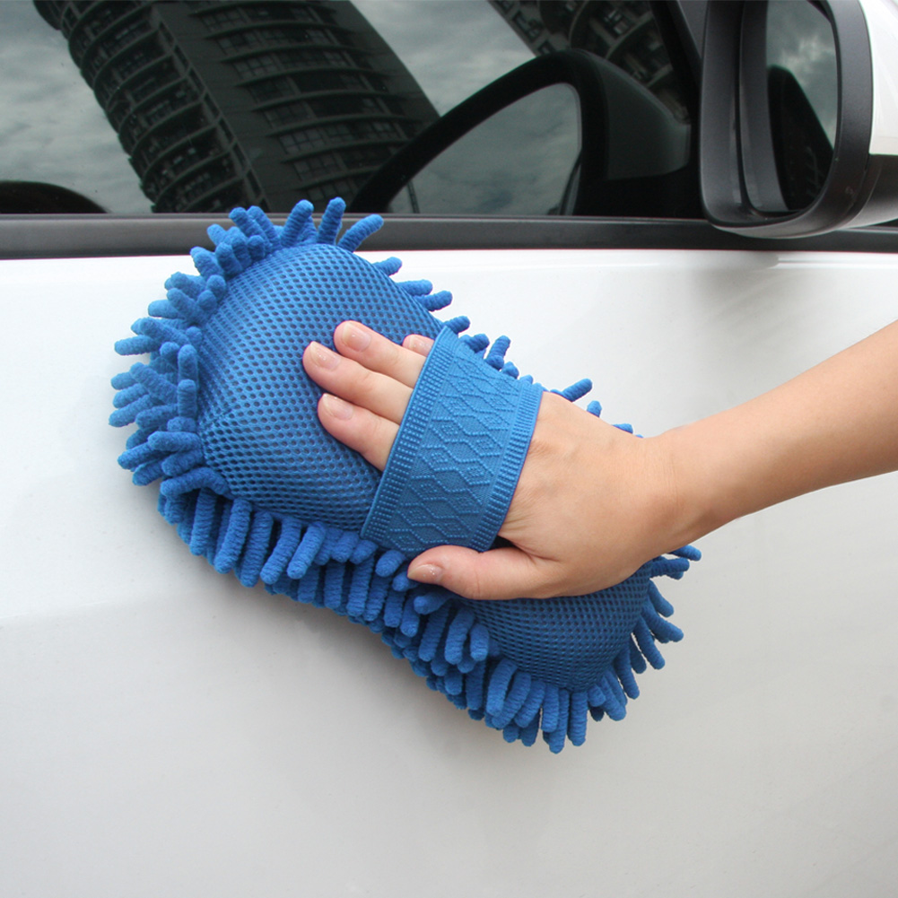 Car Coralline Sponge Microfiber Washer Clean Wash Towel Cleaning Duster
