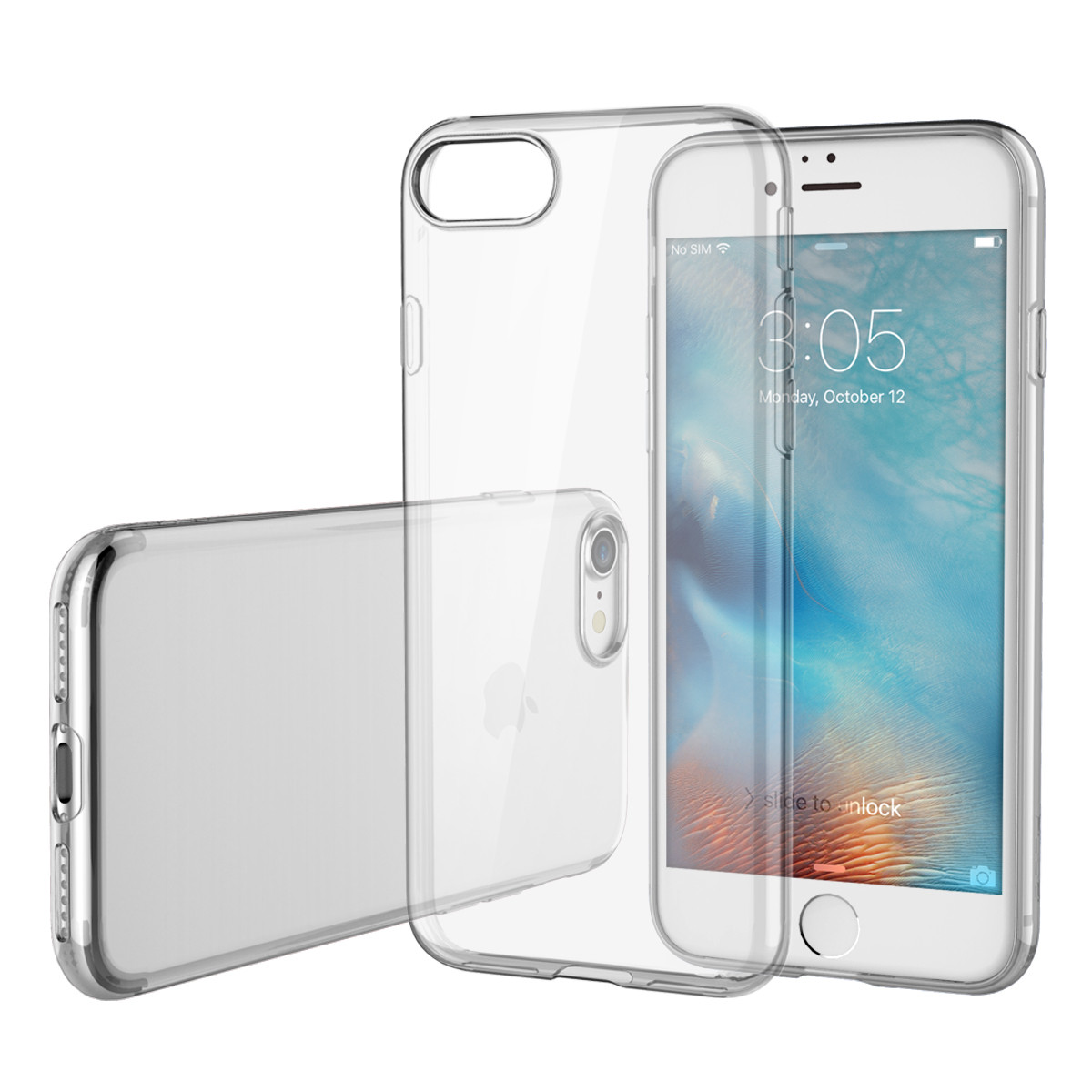 ROCK Ultra Thin Series Crystal Clear TPU Transparent Invisible Case Cover For iPhone 7/7Plus