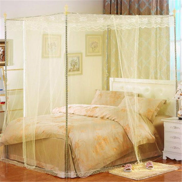 180X220cm Palace Mosquito Net Four Corner Bed Netting Canopy Insect Bug Curtain King Size & 180X220cm Palace Mosquito Net Four Corner Bed Netting Canopy ...