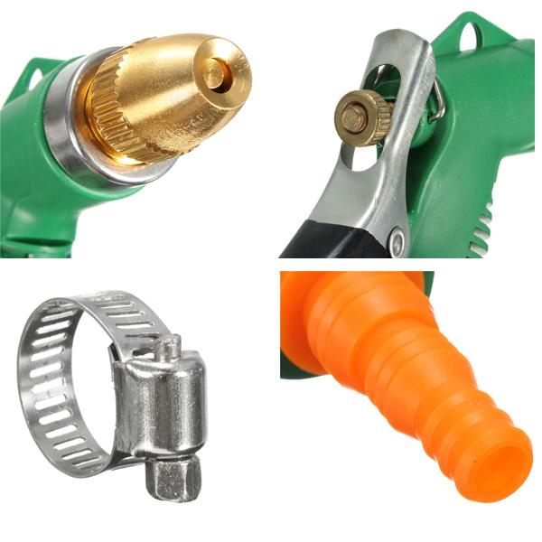 Metal hose nozzle high pressure water spray gun sprayer garden auto car washing ebay for High pressure garden hose nozzle