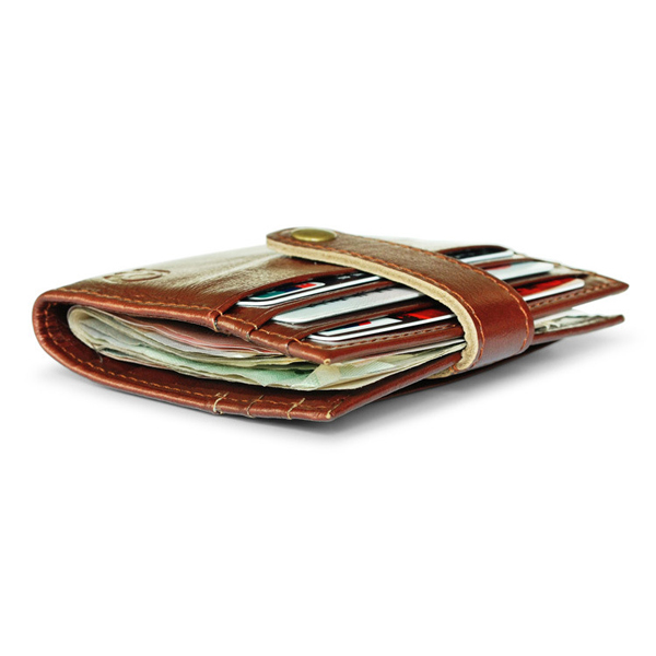 Men Women Retro Genuine Leather Credit Card Holder Wallet