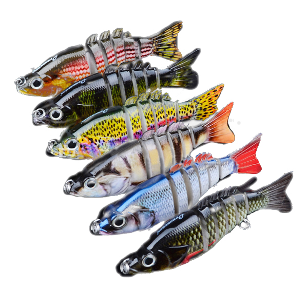 Proberos 6PCS Sections Fishing Lure 10.3cm 20.7g Swimbait Fishing Bait 6# (Eachine1) New Orleans Продажа б у