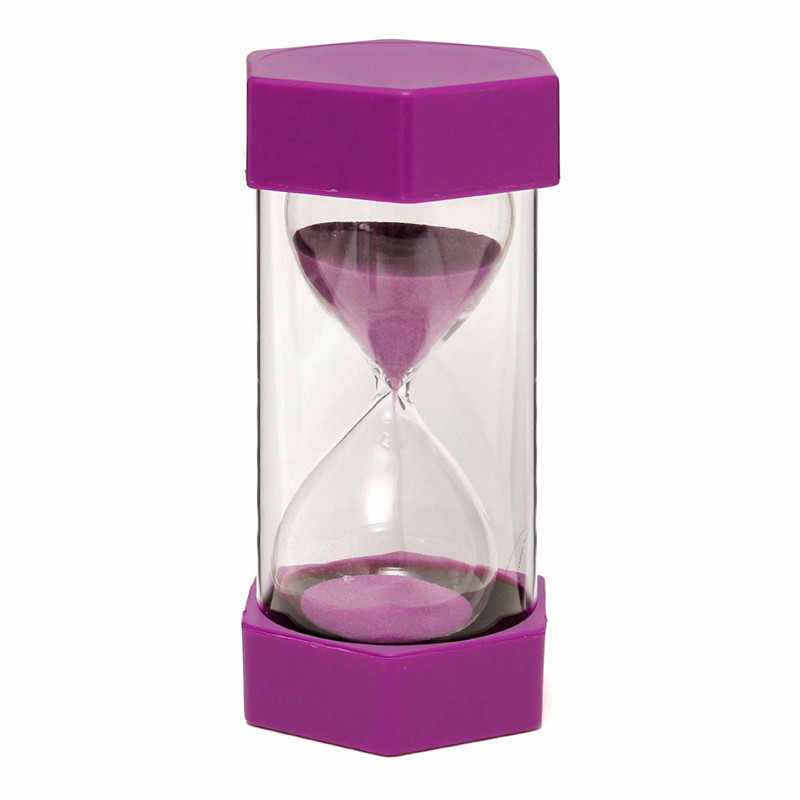 New 15 Minutes Plastic Frame Sand Glass Sandglass Hourglass Timer Clock Decor - Photo: 8
