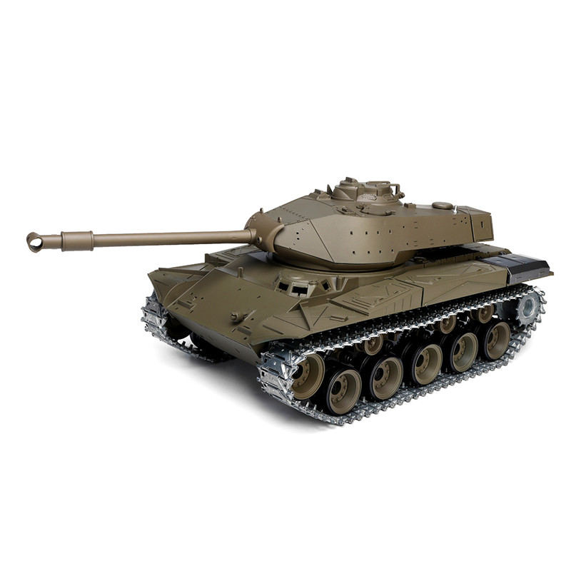 Henglong 3839-1 1/16 2.4G Smoking US M41A3 Walker Bulldog RC Car Battle Tank Metal Gearbox Toys