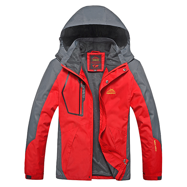 Buy Outdoor Sports Casual Windproof Waterproof Big Size S-7XL Hooded Mountaineering Jacket