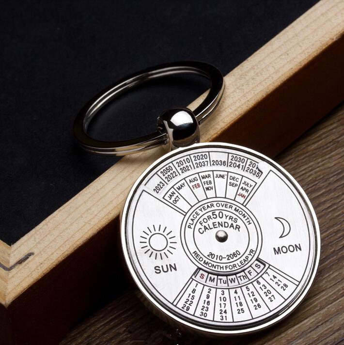 Year Calendar Keyring : Best gift to years calendar metal key chain