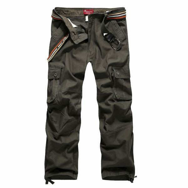 Mens Spring Casual Cotton Cargo Pants Multi Pockets Plus Size Long ...