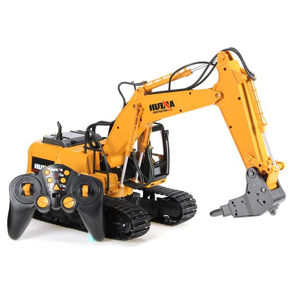 Buy HuiNa 560 2.4G 1/12 16 Channels Metal RC Excavator Broken Disassemble Charging Car Model Toys